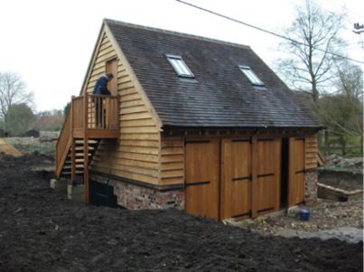 building services - wooden house